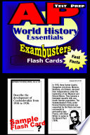 AP World History Test Prep Review  Exambusters Flash Cards