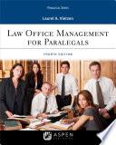 """""""Law Office Management for Paralegals"""" by Laurel A. Vietzen"""