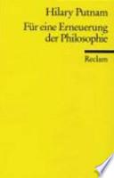 Für eine Erneuerung der Philosophie