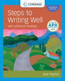 Steps to Writing Well with Additional Readings with  MLA 2021 Update Card