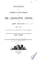 Journals And Appendix To The Journals Of The Legislative Council Of New Zealand