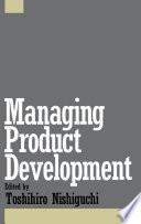 Managing Product Development Book