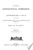 Appendices C to S Inclusive, Containing Evidence Taken by the Commissioners, Special Reports, Etc., in Vols. III, IV, and V. # Vol. IV. (Appendices G to J.)