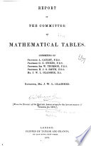 Report of the Committee on Mathematical Tables