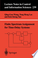 Finite Spectrum Assignment for Time Delay Systems Book