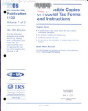 Reproducible Copies of Federal Tax Forms and Instructions
