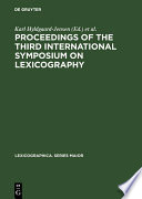 Proceedings of the Third International Symposium on Lexicography