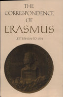 The Correspondence of Erasmus  Letters 1356 to 1534  1523 to 1524