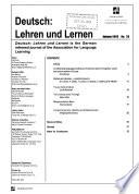 Deutsch, Lehren und Lernen