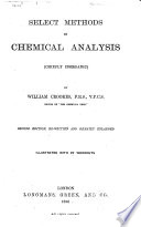 Select Methods in Chemical Analysis Book