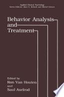 Behavior Analysis and Treatment Book