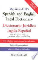 McGraw Hill s Spanish and English Legal Dictionary Book PDF