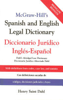McGraw Hill s Spanish and English Legal Dictionary