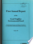 Annual Report of the Good Neighbor Environmental Board