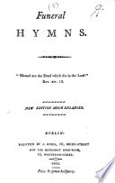 Funeral Hymns By John And Charles Wesley New Edition Much Enlarged