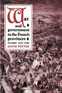 War and Government in the French Provinces