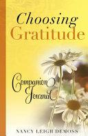 Choosing Gratitude Companion Journal Booklet
