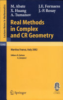 Real Methods in Complex and CR Geometry