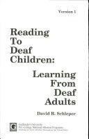 Reading to Deaf Children Book