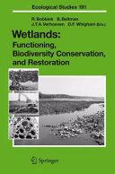 Wetlands  Functioning  Biodiversity Conservation  and Restoration