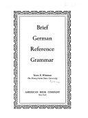 Brief German Reference Grammar