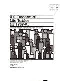 U S Decennial Life Tables For 1989 91 No 31