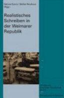 Realistisches Schreiben in der Weimarer Republik
