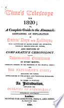 Time's telescope; or, A Complete guide to the almanack [ed. by J. Millard].