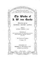 The Works of J  W  Von Goethe