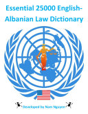 Essential 25000 English Albanian Law Dictionary