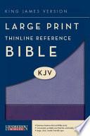Large Print Thinline Reference Bible-KJV