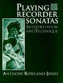 Playing Recorder Sonatas