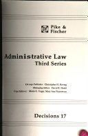 Administrative Law Third Series