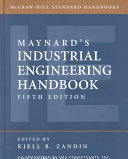 Maynard s Industrial Engineering Handbook