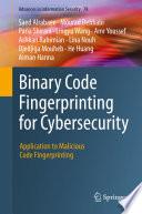 Binary Code Fingerprinting for Cybersecurity Book
