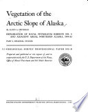 Vegetation of the Arctic Slope of Alaska