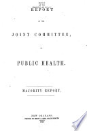 Report of the Joint Committee, on Public Health