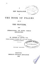 A New Translation of the Book of Psalms and of the Proverbs Book PDF