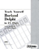 Teach Yourself Borland Delphi in 21 Days
