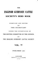 The English Guernsey Cattle Society S Herd Book PDF