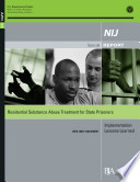 Residential Substance Abuse Treatment For State Prisoners Implementation Lessons Learned