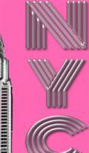 New York City Chrysler Building Pink Drawing Writing Creative Blank Journal