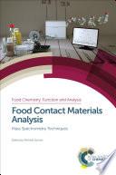 Food Contact Materials Analysis Book