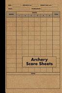 Archery Score Sheets Book