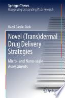 Novel  Trans dermal Drug Delivery Strategies Book