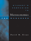 Student s Companion to Microeconomics for Managers