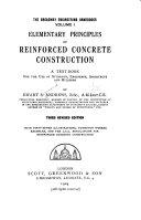 Elementary Principles of Reinforced Concrete Construction