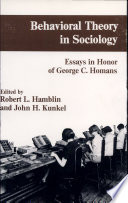 Behavioral Theory in Sociology