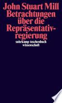Betrachtungen über die Repräsentativregierung