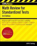 Cliffsnotes Math Review for Standardized Tests 3rd Edition Book
